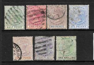LAGOS  1884-02   QV   PART SET FU