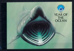 [49773] Isle of Man 1998 Marine life Dolphins Shark Unesco MNH Prestige booklet