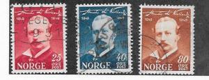 Norway #295-297  (U)   CV $2.25