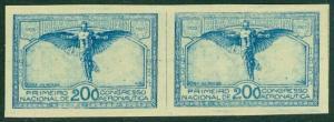 EDW1949SELL : BRAZIL 1934 Sc #386 Imperf pair VF MNH Each stamp signed 'Kessler'
