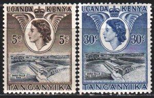 Uganda. 1954. 92-96 from the series. Dam. MNH.