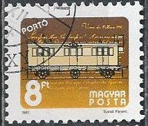 Hungary J279 (used cto) 8fo 19th-c. railroad mail car (1987)