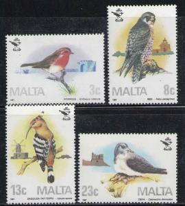 MALTA 1987 MNH SC.690/693 Birds