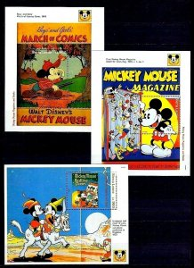 SIERRA LEONE - 1992 - DISNEY - MICKEY MOUSE MAGAZINE - BOOK ++ 3 X MNH S/SHEETS!