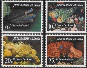 Netherlands Antilles (Curacao) B68-B71 MNH  - Sea Life