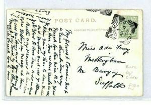 GB 1906 *OXMOOR* Suffolk Postcard Squared Circle {samwells-covers} CT113