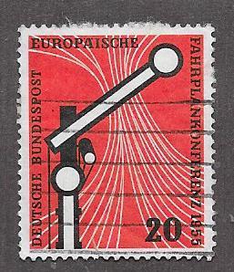 Germany #734 20pf Railroad Signal,Tracks (U) CV $2.40