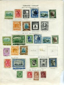 JAMAICA; 1912-29 early GV issues fine mint & used LOT on pages