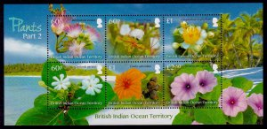 British Indian Ocean Territory Sc# 488 MNH Flowering Plants (M/S)