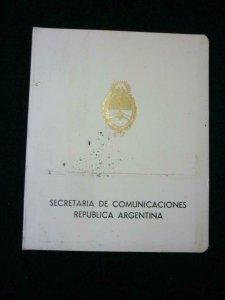 ARGENTINA 1968 UPU DELEGATES PRESENTATION FOLDER