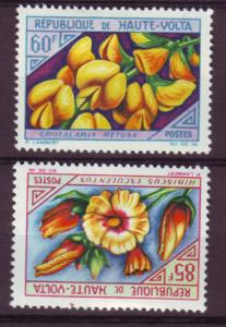 J15511 JLstamps 1963 upper- volta-burkina faso hv,s of set mh #125-6 flowers