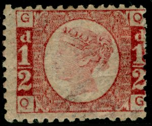SG49, ½d rose plate 12, M MINT. Cat £120. QG