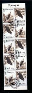Faore Islands Sc 288a 1995 Ravens stamp booklet used