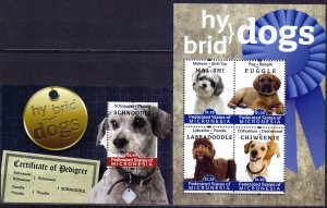 Micronesia. 2012. Small sheet 2318-21 bl212. dogs. MNH.