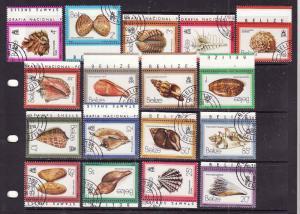 Belize-Sc#471-87-cancelled set-Marine Life-Seashells-1980-