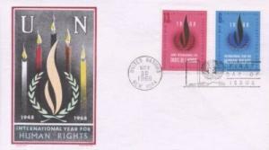 UN #190/191 HUMAN RIGHTS - Overseas Mailer