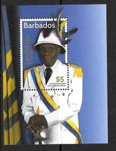 BARBADOS 2016 LANDSHIPS OF BARBADOS M/S  MNH