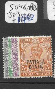INDIA PATIALA (P2602B) KGV SG 48, 49B, 52-3  MOG
