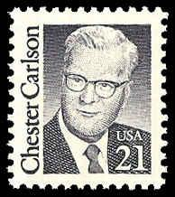 PCBstamps  US #2180 21c Chester Carlson, 1988, MNH, (7)