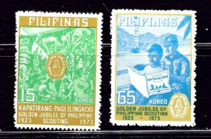 Philippines 1221-22 MNH 1973 Boy Scouts