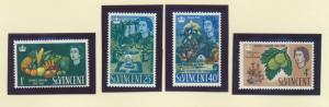 St. Vincent Scott #220 To 223, Mint Light Hinge Marks MLH, Bicentenary of Bot...