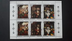 Art - paintings - overprint Christmas - Chad 1972. ** 2x set in sheet