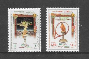 BIRDS - QATAR #934-5-FALCONS TENNIS OPEN  MNH