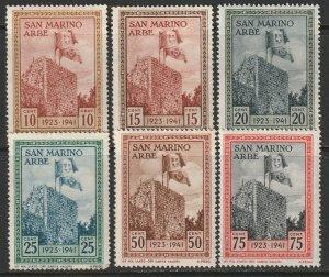 San Marino Sc 190-195 partial set MH