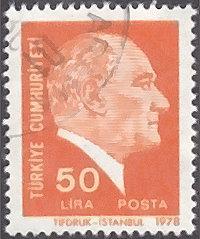 Turkey # 2073 used ~ 50 l Kemal Ataturk
