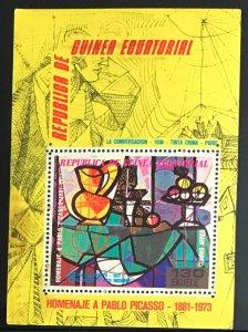 Equatorial Guinea #MiBl151 MNH S/S CV€7.00 Picasso