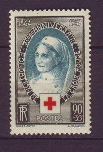 J24623 JLstamps 1939 france set of 1 mh #b81 red cross nurse, small spot top
