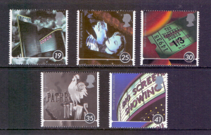 Great Britain 1996 MNH centenary of cinema complete