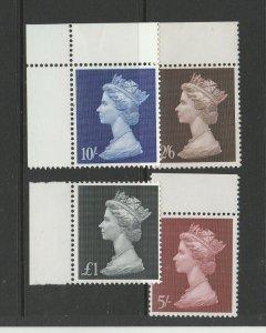 GB 1969 £sd Large Machin UM/MNH Marginals SG 787/90
