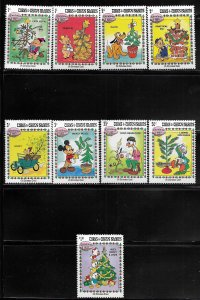 TURKS & CAICOS ISLANDS, 593-601, MNH,  CHRISTMAS 1983 DISNEY