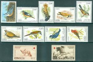 ALGERIA : Bird Topical. 4 Better Very Fine, Mint OGH Complete sets. Cat $46