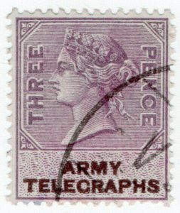 (I.B) QV Telegraphs : Army Telegraphs 3d (Unknown - Boer War)