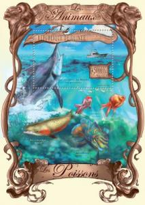 Guinea MNH S/S Fish Whale Shark Marine Life 013