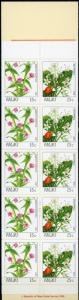 Palau #133b Flowers Full Booklet MNH