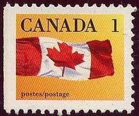 Canada - 1990 1c Flag ex Booklet Perf. 12.5 X 13 #1184a