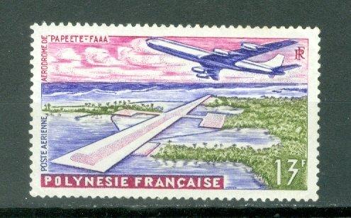 FRENCH POLYNESIA AIRPLANE #C28...MINT NO THINS..