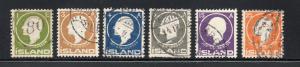 Iceland - Facit# 108 - 113 Used  /  Lot 419_ 1114153