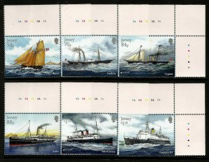 Jersey 2020 Mail Ships 6v Set of Stamps unmounted mint MNH