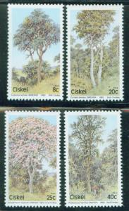 South African enclave of CISKEI Tree set Scott 46-49