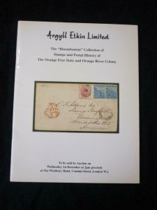 ARGYLL ETKIN AUCTION 1967 ORANGE FREE STATE & ORANGE RIVER COLONY 'BLOMFONTEIN'