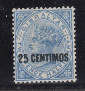 Gibraltar #25b (SG #18b) VF Mint Showing Broken N Variety