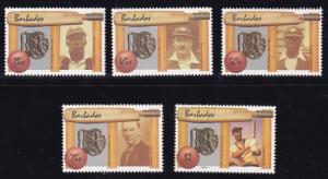 Barbados 1988 CRICKET Complete (5) National Star Players VF/NH