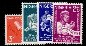 NIGERIA QEII SG141-144, complete set, NH MINT.