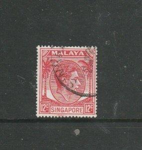 Singapore 1948/52 P17.5 x 18 12c FU SG 22a