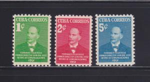 Cuba 455-457 Set MH Fernando Figueredo, Politician