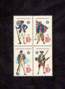 1565-68 Military Uniforms Block Of 4 Mint/nh (Free shipping)